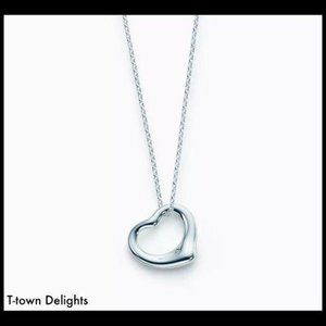 Simple Silver Floating Heart Necklace